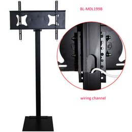 Wholesale Lcd Flat Panel Tv Stand - 32-70 inch LCD LED Plasma TV Mount Floor Stand Height Adjustable Full Motion Wiremanagement AD Display Stand