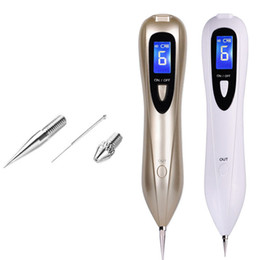 Wholesale Face Devices - 2017 NEW Laser Skin Spot Mole Remover Machine Face Freckle Tattoo Removal Plasma Pen Wart Remover Tool Beauty Care Device