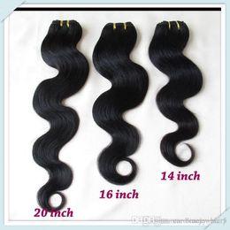 Wholesale Brazilian Remy Bulk Hair Bundles - Bulk Price Brazilian Body Wave Remy Hair Extensions Wavy Weave Mixed Bundles 8pcs Lot 50g pc Color #1B Fast Free DHL Shipping