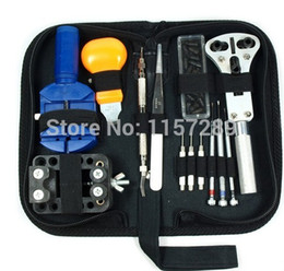 Wholesale Watch Link Screwdriver - Wholesale-13pcs Watch Repair Tool Kit Case Battery Opener Link Pins Remover Screwdrivers