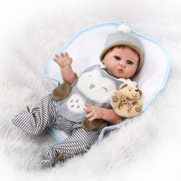 "Wholesale Baby Full Month Gift - Wholesale- 20"" 52cm Handmade Full Body Boy Vinyl Silicone Reborn Baby Doll bebe realsitic reborn com corpo de silicone inteiro menina Gifts"