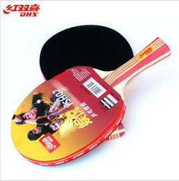 Wholesale Dhs Tennis Balls - DHS Table Tennis 2 double-sided anti-plastic shot to send the ball beginners who racket bottom layer 5