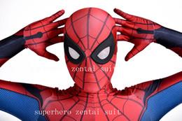 orecchie di gatto rosa cosplay Sconti Homecoming Spider-Man Costume Cosplay 3D Spiderman Homecoming Spandex Suit Più nuovo Spidey Tuta Per Adulti / Bambini / Custom Made Spedizione Gratuita