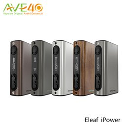 Wholesale Mode Battery - Original Eleaf iPower 80W TC Box Mod with 5000mAh Battery VW Bypass Smart TC Mode Matching Melo 3