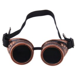 Wholesale Steampunk Cyber Goggles - Cyber Goggles Steampunk Glasses Vintage Retro Welding Punk Gothic Victorian Top Quality~~ Cheap glasses High Quality victorian lot