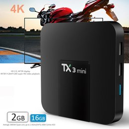 Mini box hd en Ligne-TX3 mini android 7.1 tv box quad core Amlogic s905w 1GB / 2GB + 16GB bet s905 rk3229 boîte de transmission nexbox a95x avec affichage LED