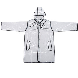 Wholesale Wholesale Pvc Raincoats - 35pcs New Raincoat Creative Fashion Transparent Raincoat PVC Raincoat Windbreaker Adult Household Environmental Tourism Wholesale ZA07223
