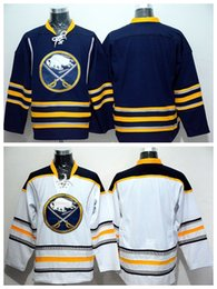 Wholesale Blank Fans - Buffalo Sabres Blank Jersey Men For Sport Fans Home Blue Road White Blank Ice Hockey Jerseys Embroidery And Sewing Logo