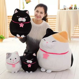 Wholesale Cloth Mouse - 30-60cm Cute Fat Cat Plush Toys 3 Colors sitting cat cloth doll baby pillow aniamls stuffed plush doll kids Christmas present