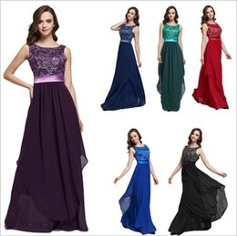 Wholesale Vintage Lace Prom Dresses Wholesale - Dresses Women's Party Prom Gown Dress Lace Bridesmaid Wedding Dinner Dress Evening Elegant Dresses Long Formal Big Pendulum Sundress B2748