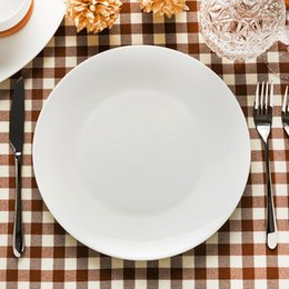 7-Inch Elegant White Dinner Plates Kitchenware Simple Style Plates Porcelain Round Dinnerware Tag Salad Dessert Plates & White Ceramic Dinnerware NZ   Buy New White Ceramic Dinnerware ...