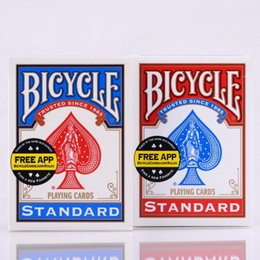 Wholesale Bicycle Deck Cards - 2pcs Set USA Native Bicycle Deck Red&Blue Magic Regular Playing Cards Rider Back Standard Decks Magic Trick 808 Sealed Decks