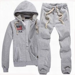 Wholesale Mens Hooded Cardigans - Solid Polo Tracksuit CHIC Mens Zipper Cardigan Sportsuits Hooded Tracksuits Hoodies Fashion Coats clothes Pants Jackets Sportswear S-XXL