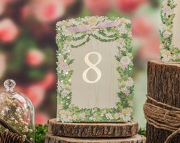 Wholesale laser cut place cards - Place cards for Wedding Laser Cut Flower Wedding Table Number Cards Romantic Place Card Wedding Supplier Wholesale Free Shipping