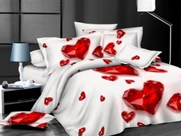 Wholesale Cheap Red Bedding - Home textiles!! Cheap price free shipping 3D home textiles bedding sets 4 piece bedding sets include Duvet cover,Bed sheet,pillowcase