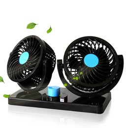 Wholesale Wholesale Blower Fans - 12V 24V Car Air Conditioner Fan Portable Ventilateur Mini Fan Silent 360 Degree Rotating Adjustable Car Air Cooling Fan Blower