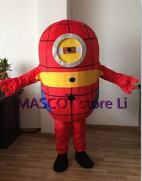 Wholesale Minions Fancy Dress Costume - Wholesale-Hot sale 2016 adult lovely professional purple minion mascot costume fancy dress cartoon party costume Free Shipping