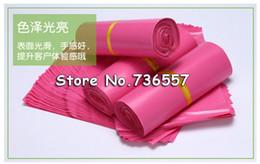 Wholesale Mail Envelopes - Wholesale-23*35cm100PCS Pink Color Envelope mailing bag Courier Mailer Express Bag
