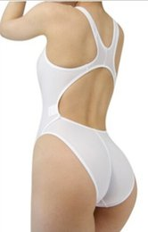 Wholesale Tight Fitting One Piece - Wholesale- Women Lady Sexy Leotard Swimsuit T Hip Crotch Underwear Slim Fit One Piece Tight