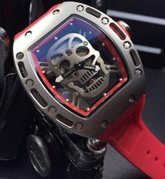 where to buy mechanical transparent watches for men online buy hot luxury male stainless skull face rm052 transparent rubber mens automatic skeleton watch lowest price mechanical wristwatch for men gift in bulk