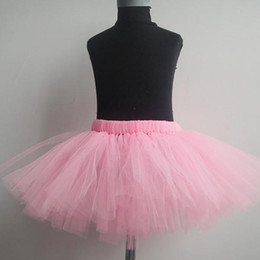 Wholesale Children Wearing Mini Skirts - baby girls tutu skirts kids lace Ruffles skirt infant tulle pettiskirts children bow cake skirt child boutique dance wear tutus wholesale