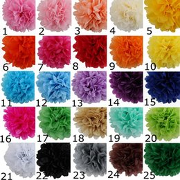 """Wholesale Colorful Tissue - 4 inch (10cm) -18"""" 45cm Colorful Tissue Paper Flowers Ball Craft paper flowers Pom poms for Christmas wedding Party Birthday decoration Supp"""