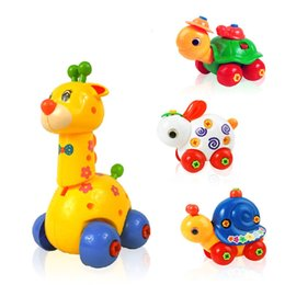 Wholesale Education Piece - Kids Animal Learning Education Toys Children Assembly Disassembly Toy Cartoon Puzzles Pieces for Baby