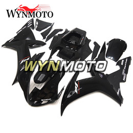 Wholesale R1 Decals - White Black Decals Fairings For Yamaha YZF R1 2002 2003 Injection ABS Full Motorcycle Fairing Kits Motorbike Fairing Kit Body Frames Carenes