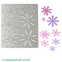 Wholesale flowers scrapbook - Flower Set DIY Metal Cutting Dies Stencil Scrapbook Card Album Paper Embossing Crafts