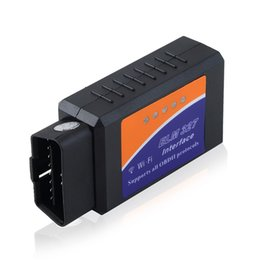 Wholesale Wireless Obd Scanner - Wholesale-WIFI ELM327 Auto Scanner Wireless OBD2 OBDII Adapter bluetooth ELM 327 Interface OBD2   OBD II Auto Car Diagnostic Scanner~