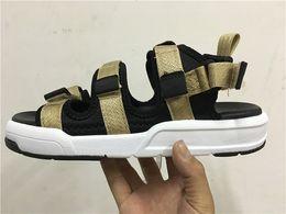 Wholesale Gold Flat Wedge Sandals - 2016 Summer New Design NB Fashion Beach Sandal Casual shoes for Men & Women Balancing Model Black gold,Camouflage Leather Gladiator Sandal