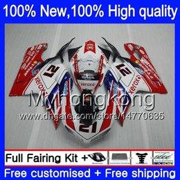 Wholesale R 21 - Body Fairings For DUCATI 848 1098 1198 07 08 09 10 11 848R 1098R 14MY0 848S S R 1098S 21# red blue 1198S 2007 2008 2009 2010 2011 Fairing