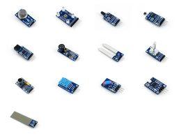 Wholesale humidity arduino - Wholesale-Waveshare Sensors Pack For Arduino Gas Color Flame Metal Hall IR Laser Soil Moisture Rotation Sound Temperature Tilt UV Liquid