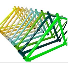 """Wholesale Carbon 52 - Special offer! 2016 NEW Fixed Gear frame including fork 46 52"""" High-carbon steel Bike Frames Custom colors Multicolor"""