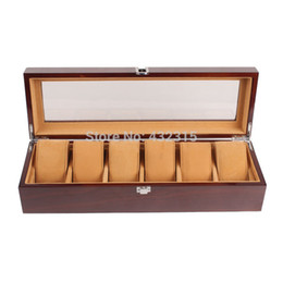 Wholesale China Packages - 6 Grids High Grade Wooden Sell Display watch box& Jewelry Box China Packaging Factory Supply May Customize