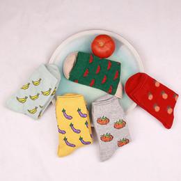 Wholesale Watermelon Art - Wholesale-Hot winter retro fashionista full personality creative art lovers watermelon fruit cute elite casual socks socken sokken WZ30