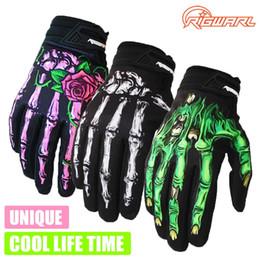 Wholesale Skeleton Touch Screen Gloves - Winter&autumn Skeleton Bones Windproof Waterproof Gloves Outdoor Sports Touch Screen Gloves GEL Cycling Bike Gloves