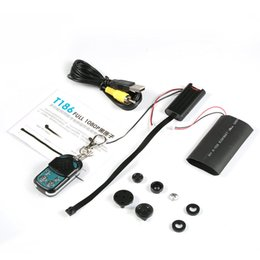 Wholesale Security Camera Video Audio - HD 1080P DIY Module SPY Hidden Camera Video audio MINI DV DVR Motion Motion detection with Remote Control T186 Security camcorders