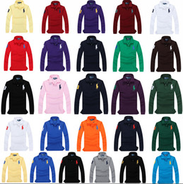 Wholesale Polo Shirt Designer - Ralph Polo High quality luxury lauren horse logo 100% cotton men's long-sleeve shirt designer Crocodile brand Polo DHL TNT transport free