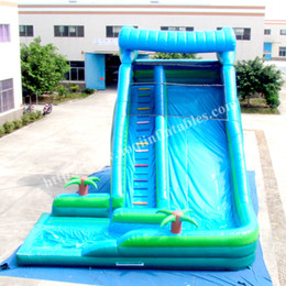 Wholesale Pool Inflatable Slides - AOQI popular water game equipment inflatable water slide cheap price inflatable slide with pool good quality water slide for promotion