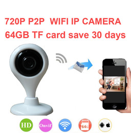 Wholesale Micro Cctv Wireless Camera - Mini Wireless IP Camera 720P CCTV Camera Motion Detect Two Way Audio Wifi Camera Micro SD Slot Free Shipping