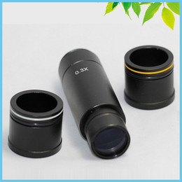 Wholesale Ccd Camera Adapter - Freeshipping 0.3X C Mount Adapter Microscope Reduction Lens CCD Adapter C Mount Microscope Adapter for Industry Microscope Camera Eyepiece