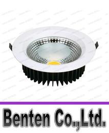 Wholesale Aluminum Led Reflector - Free shiping 15w 20w 30w LED COB Downlight AC85~265V,Al+Reflector,White Paint LLFA