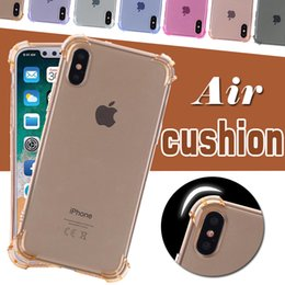 Wholesale Iphone Transparent Rubber - Air Cushion Shockproof Soft TPU Anti Knock Clear Transparent Crystal Rubber Full Protective Cover Case For iPhone X 8 7 Plus 6 6S SE 5S 5
