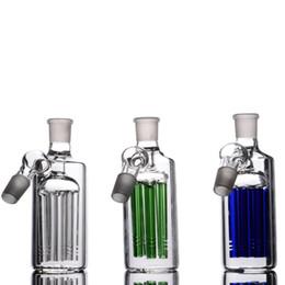 aschenfänger billig Rabatt Honeycomb Aschenfänger 18 mm Gelenke grün blau klar Aschenfänger billig dick Bubbler für Bong-Rohre Wasserpfeifen