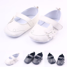 Wholesale Black White Butterfly Fabric - New Arrival Baby Girl Shoes Handmade Solid Leather Butterfly Design Thread Anti-slip Soft Sole Dress Shoes 0-12 Months