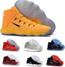 Wholesale Cheap China Brand Shoes - Cheap Hyperdunk Basketball Shoes Boost High Men BHM Red 2017 Man Air Zoom Hyperdunks Reteo Shoe China Brand Authentic Sport Sneakers