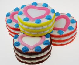 Wholesale Kids Birthday Cakes - Jumbo Squishy Rainbow Strawberry Cake squishy Slow Rising Kawaii Cute Birthday Cream Cake Scented Kids Toy