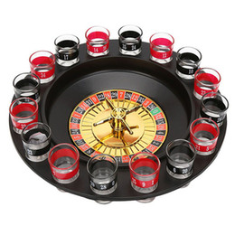 Wholesale Glass Chips - New Shot Glass Deluxe Russian Spinning Roulette Poker Chips Drinking Game Set Party Supplies Wine Games for Adult Drinken Game
