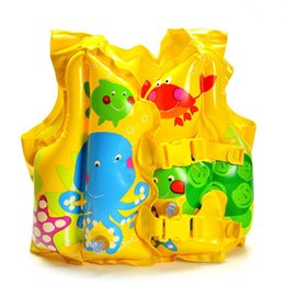 Wholesale Life Jacket Fish - Wholesale- High quality children's swimming ring cartoon fish vest life jacket life buoy xx093